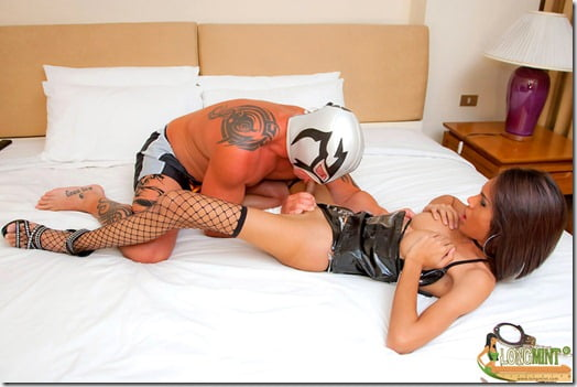 Ladyboy cop and the wrestler